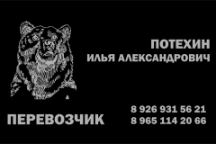 визитка медведь